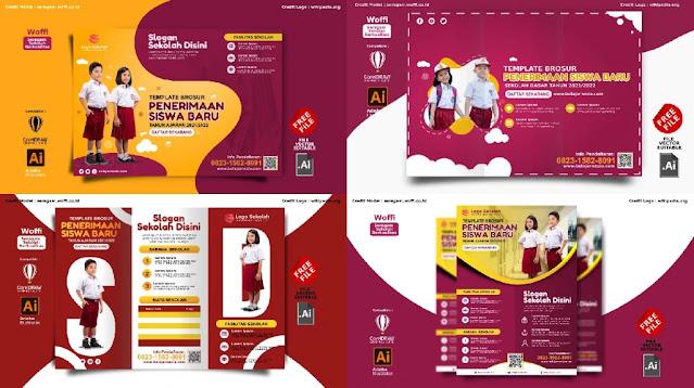 Free File : Download Contoh Brosur PPDB Sekolah Dasar Comp CorelDraw Dan Illustrator