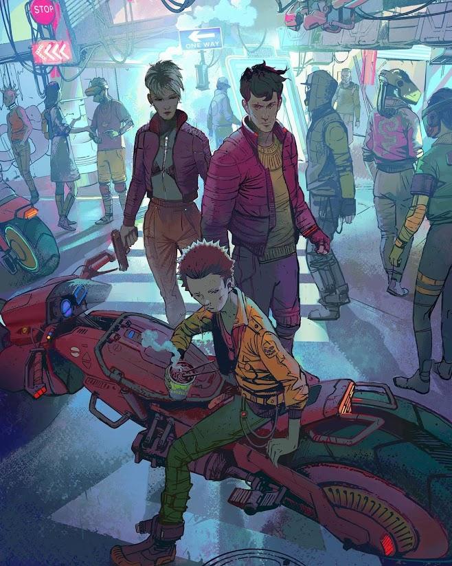 Cover Artwork by Ignacio Bazan-Lazcano for Cyberpunk City by DL Young