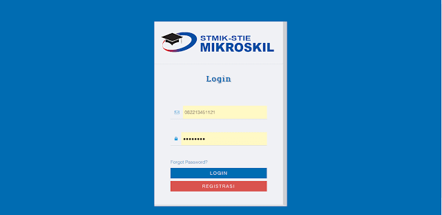 Login ke Situs PMB Mikroskil