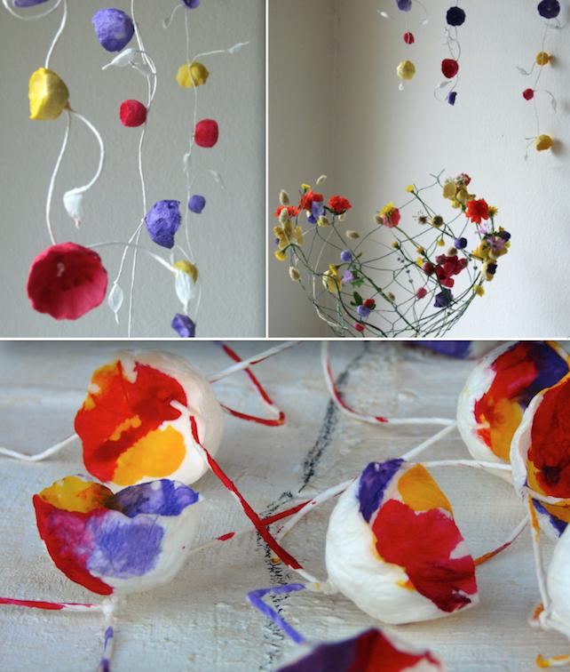 Eco wedding design ghirlande di fiori di carta per for Ghirlande di carta