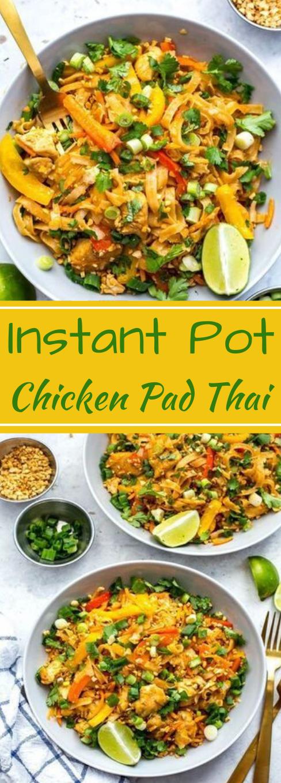 INSTANT POT CHICKEN PAD THAI #chicken #dinner #pot #padthai #recipes