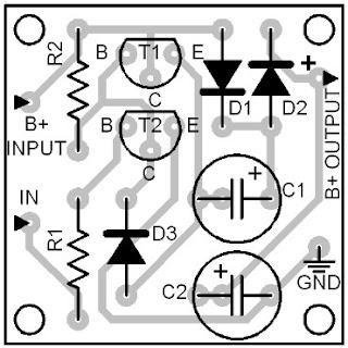 Parts-Placement-Layout-DC-Voltage-Doubler-Circuit-Diagrams
