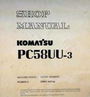 Buku pandusn perbaikan shop manual pc58uu-3