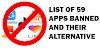 59 Banned Chinese App: Complete List of Their Alternative Indian Apps