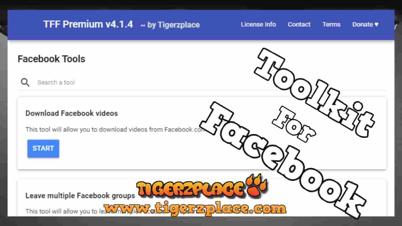 Toolkit For Facebook Latest Version Tff Premium V4 1 4 Android Supported Tigerzplace