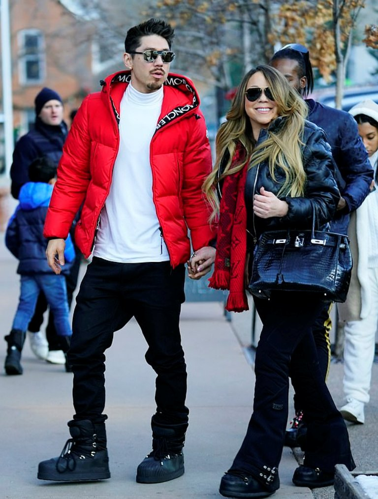 Mariah Carey drips in luxury as she enjoys Christmas shopping with boyfriend in Aspen