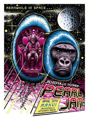 Pearl Jam Concert Gig Poster by Paul Jackson