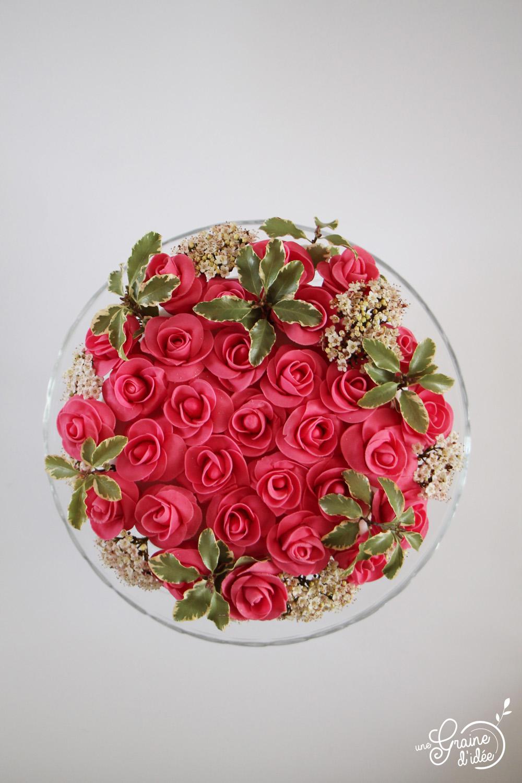 Layer Cake Bouquet De Roses Une Graine D Idee