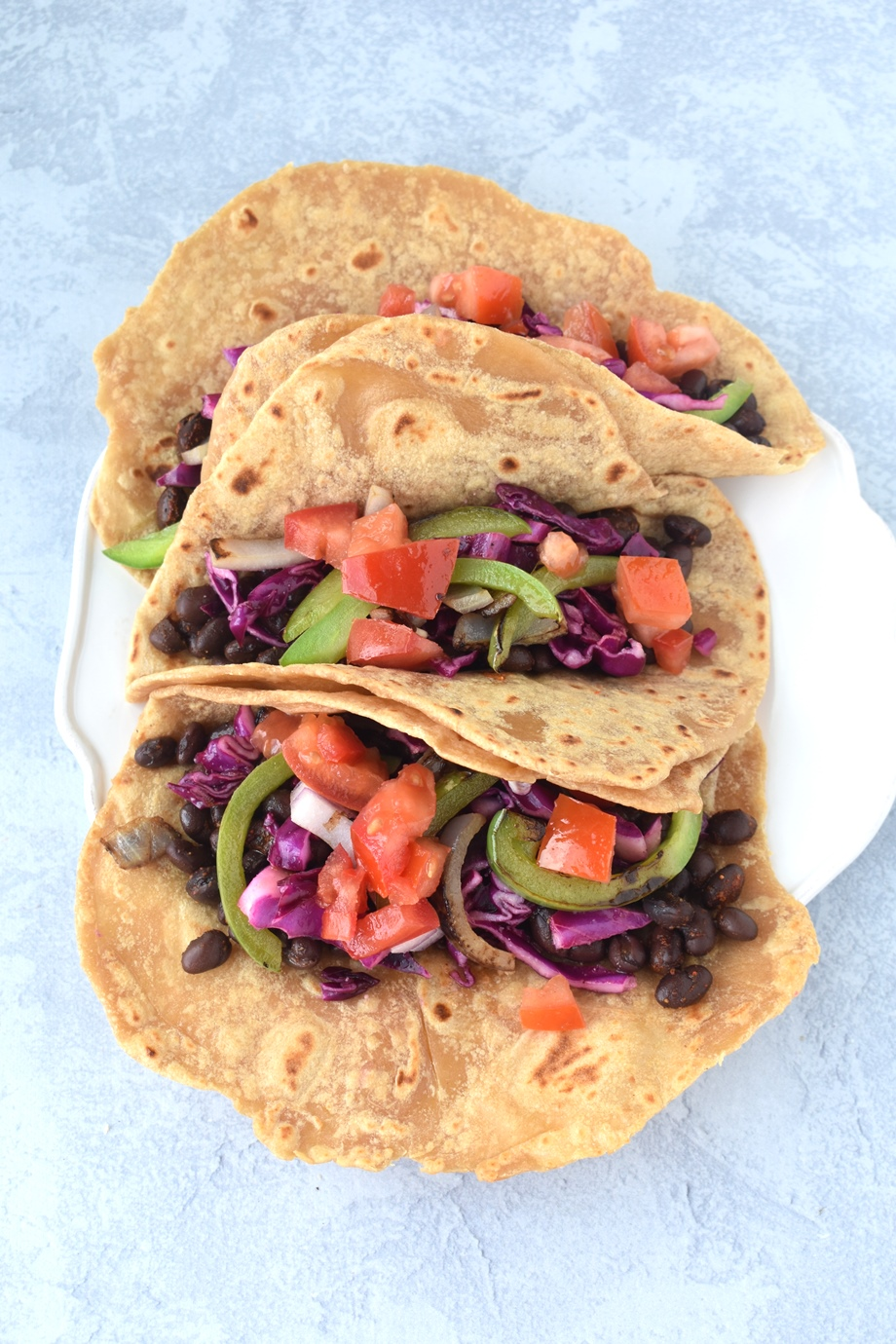 Black Bean Tacos with Whole-Wheat Tortillas