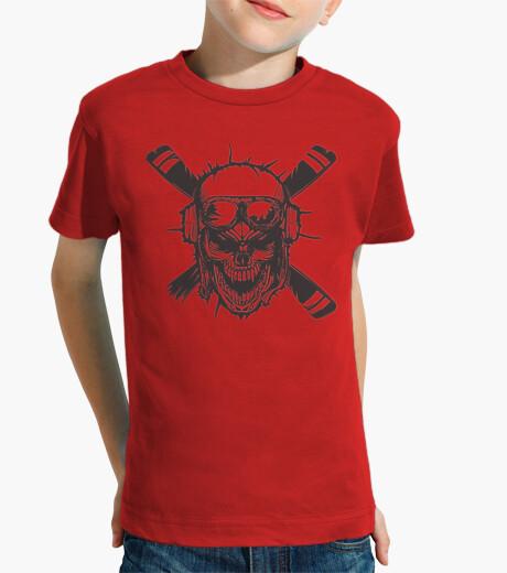 Camisetas, negro, calaveras