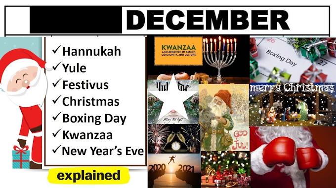 December global holidays: Celebrating Global Festivities in December 2021