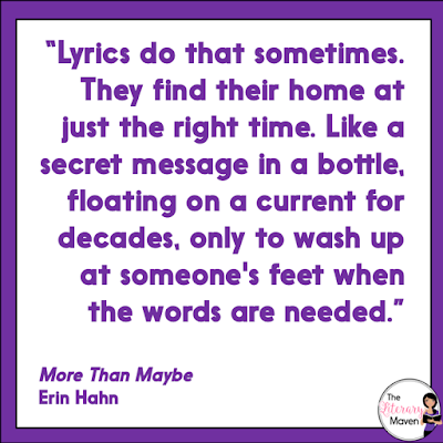 In More Than Maybe by Erin Hahn, readers will cheer when Luke and Vada make their feelings known. Read on for my review and ideas for classroom use.