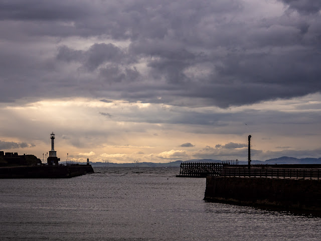Photo of looking out across Maryport Basin to the Solway Firth