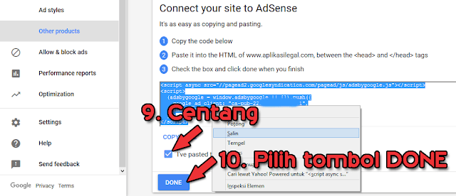 Upgrade Adsense Hosted ke Non Hosted