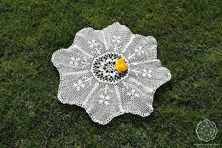 Serwetka z kwiatkiem