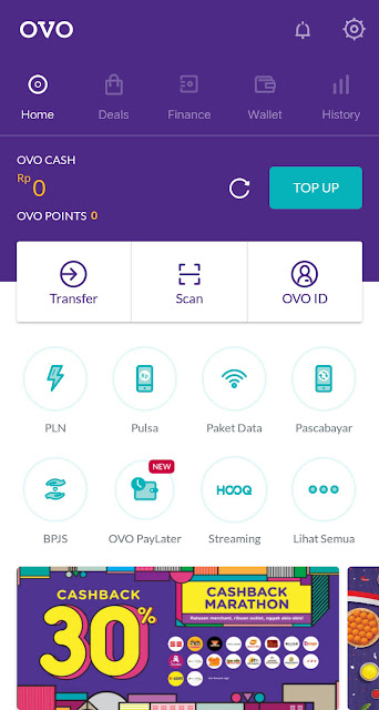 Tampilan Aplikasi OVO Terbaru