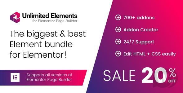 Unlimited Elements for Elementor Page Builder wrdpress plugen NULLED