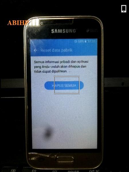 Silahkan pilih hapus semua pada Samsung v2.