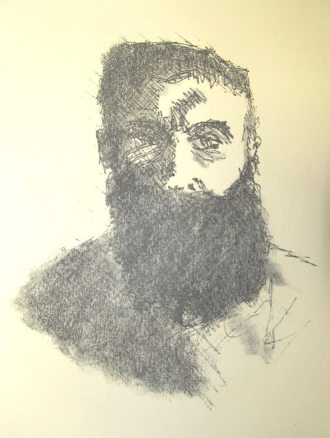 Rodin (after Rodin) etching by F. Lennox Campello, c. 1978