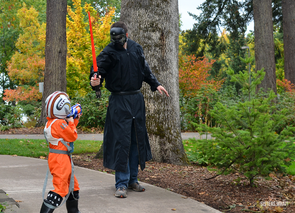 Homemade Kylo Ren Star Wars costume