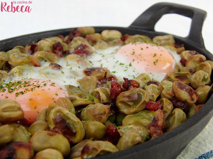 La cocina de rebeca habas con jam n y huevo - Habas frescas con jamon ...