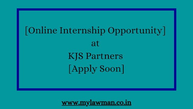 [Online Internship Opportunity] at KJS Partners [Apply Soon]