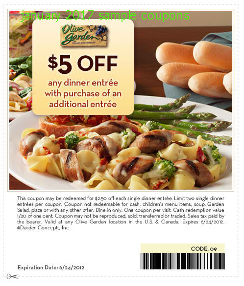 Olive garden coupons codes