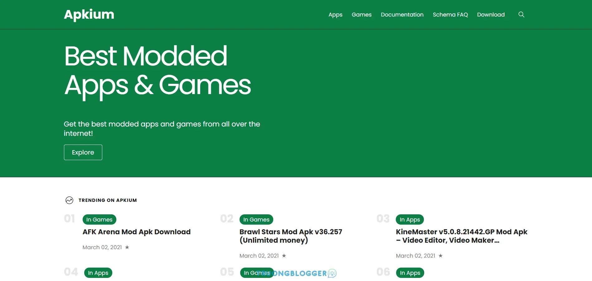 Apkium mẫu trang cửa hàng ứng dụng cho Blogger