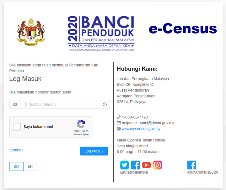 Panduan Ringkas Mengisi e-Census - Banci Penduduk Online 2020