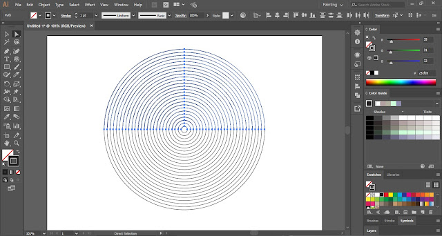 Linear Spiral in Adobe Illustrator