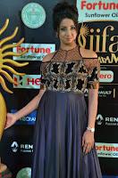 Sanjjanaa Galrani aka Archana Galrani in Maroon Gown beautiful Pics at IIFA Utsavam Awards 2017 07.JPG