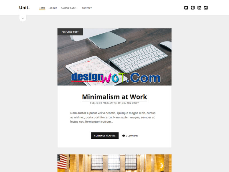 Unit wordpress themes