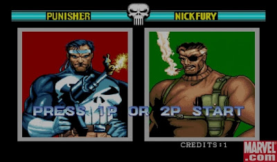 The Punischer+arcade+game+retro+beat'em up+portable+select players screen