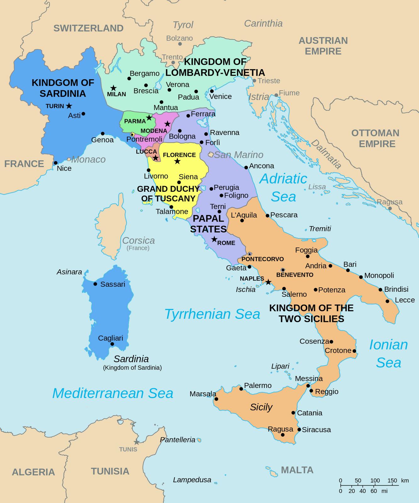 Big Blue 18401940 Italian States a classical minefield