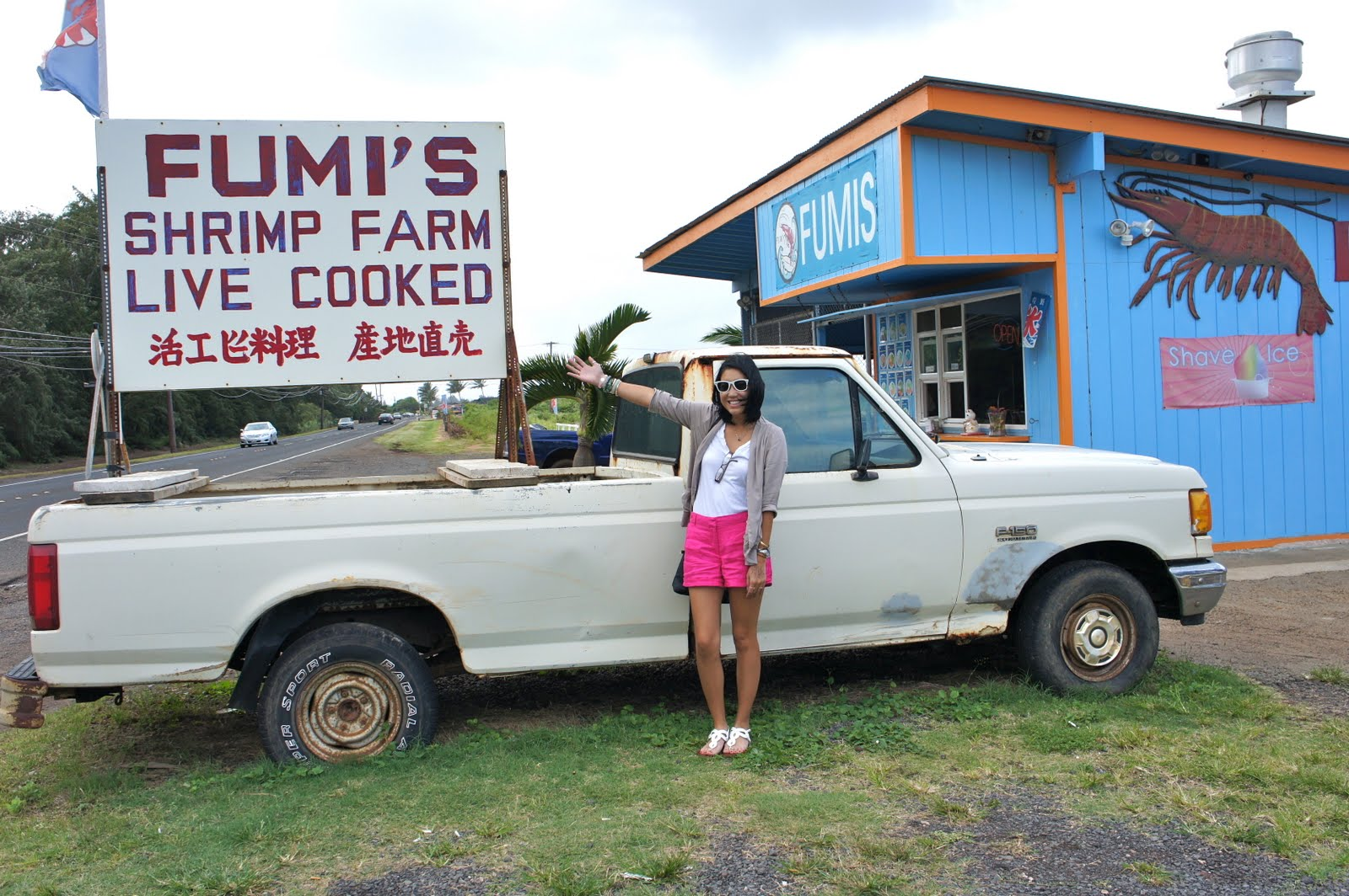 The Fashionably-Forward Foodie: Kahuku Shrimp Truck- Fumi's