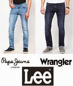 Mens Jeans: Pepe Jeans, Wrangler, Lee
