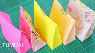 งานฝีมือ พับถุงกระดาษ