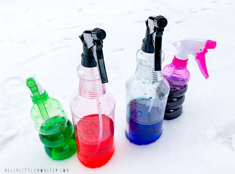 Snow paint recipe - snow spray paint