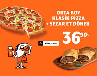 Little Caesars orta boy pizza et döner kampanyası