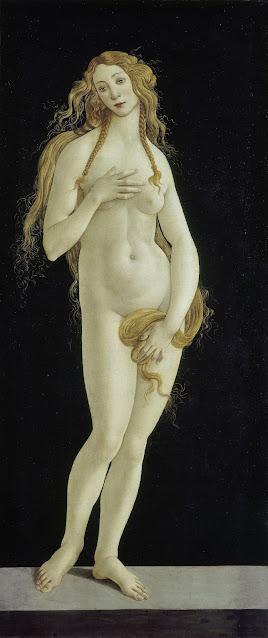 Alessandro Filipepi dit Botticelli (vers 1445 – 1510), Venus pudica, vers 1485-1490, huile sur toile, 158,1 x 68,5 cm, Berlin, Staatliche Museen zu Berlin, Gemäldegalerie, Photo © BPK, Berlin, Dist. RMN-Grand Palais / Jörg P. Anders