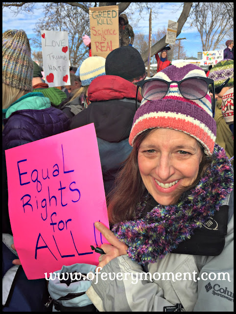 Woman holding an Equal Rights for All sign