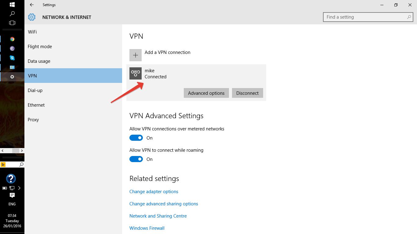 Mikrotik pptp client internet access