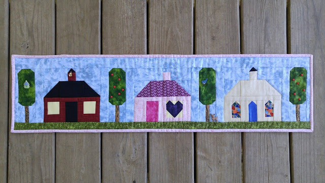 row by row experience home sweet home school house church traditional quilt