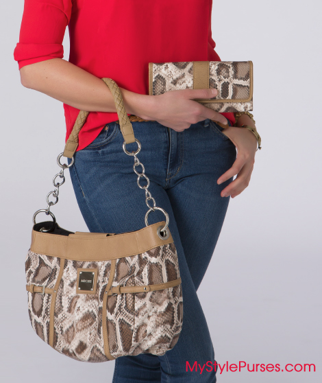 Miche Bianca Snake Skin Purse & Wallet from MyStylePurses.com