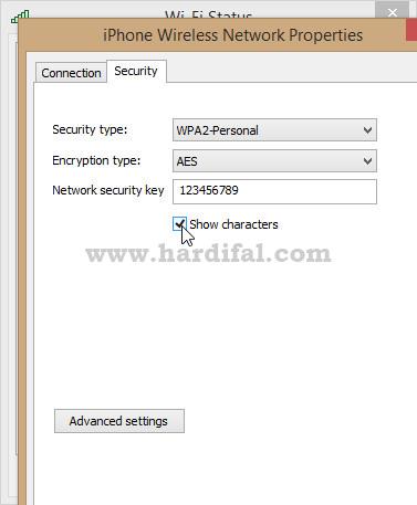 Tampilkan password wifi terhubung di laptop