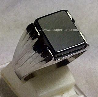 Cincin Batu Permata Black Onyx - ZP 312