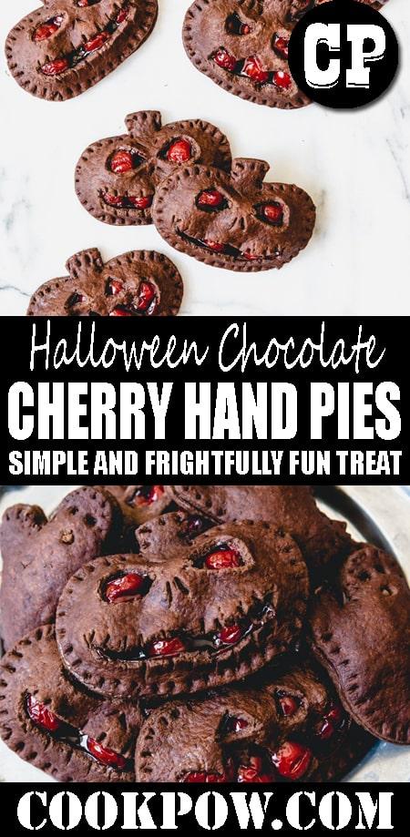 HALLOWEEN #CHOCOLATE CHERRY HAND #PIES