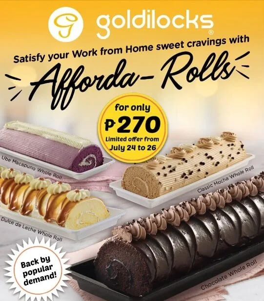 Goldilocks Afforda-Rolls Promo Is Back; For A Limited Time Only!
