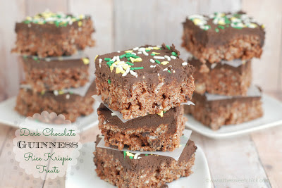 #darkchocolate #guinness #ricekrispies #stpatricksday