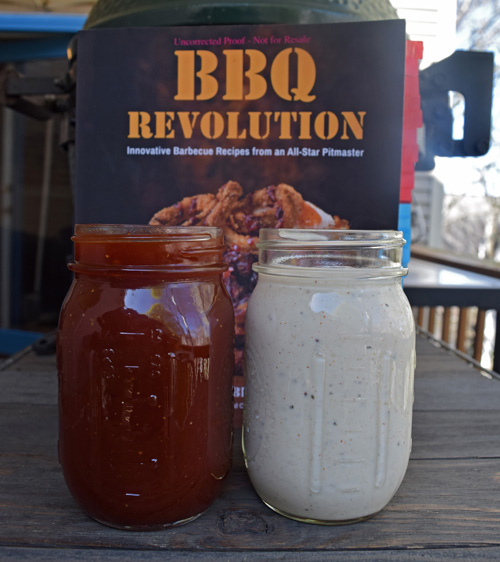 Two bbq sauces from the book, BBQ Revolution